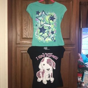 Girls Justice Bundle of 2 Shirts Size 10
